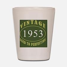 Vintage 1953 Coaster Shot Glass