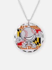 Baseball Dude Baltimore Necklace