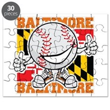 Baseball Dude Baltimore Puzzle