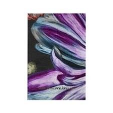 Painted Purple Flower Rectangle Magnet