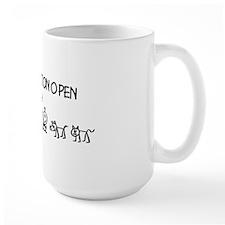 Stick  Family Man Position Open Coffee Mug
