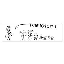 Stick Figure Family Woman Positio Bumper Sticker