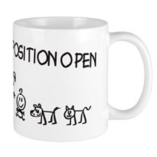 Stick Figure Family Woman Position Open Small Mug