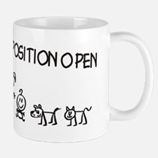 Stick Figure Family Woman Position Open Small Small Mug