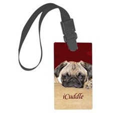 Adorable iCuddle Pug Puppy Luggage Tag