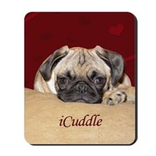 Adorable iCuddle Pug Puppy Mousepad