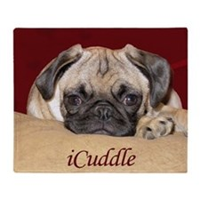 Adorable iCuddle Pug Puppy Throw Blanket