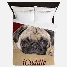 Adorable iCuddle Pug Puppy Queen Duvet