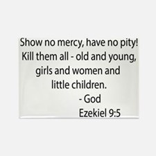 ezekiel 9.5 black Rectangle Magnet