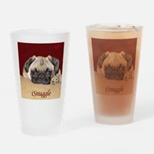 Adorable iSnuggle Pug Puppy Drinking Glass