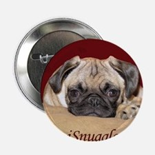 "Adorable iSnuggle Pug Puppy 2.25"" Button"
