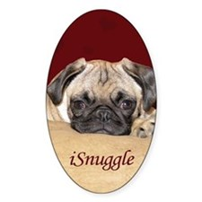 Adorable iSnuggle Pug Puppy Decal