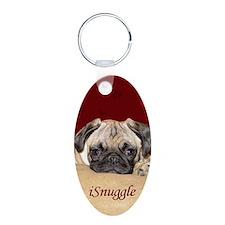 Adorable iSnuggle Pug Puppy Keychains