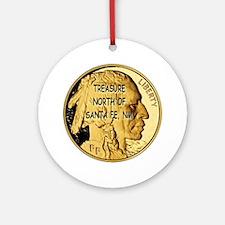 Treasure North of Santa Fe, NM Gold Round Ornament