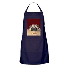 Adorable iCuddle Pug Puppy Apron (dark)