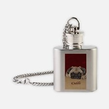 Adorable iCuddle Pug Puppy Flask Necklace