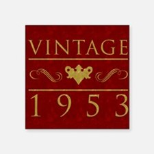 "Vintage 1953 (Red) Square Sticker 3"" x 3"""