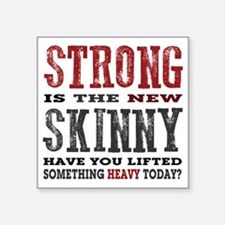 "Strong is the New Skinny: H Square Sticker 3"" x 3"""