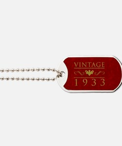 Vintage 1933 (Red) Dog Tags