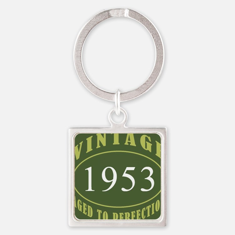 Vintage 1953 (Green) Square Keychain