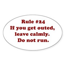 Rule #24 Oval Decal