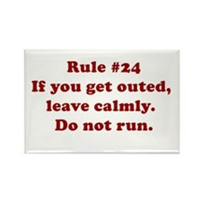 Rule #24 Rectangle Magnet