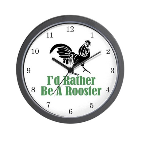 Rather Be A Rooster Wall Clock (w/numbers)