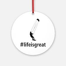 Kiteboarding-06-A Round Ornament