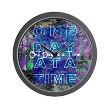 One Day at a Time Art Wall Clock
