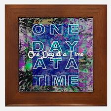 One Day at a Time Art Framed Tile