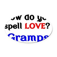 How do you spell Love Gramps Oval Car Magnet