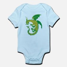 Green/Gold Ring Dragon Infant Bodysuit