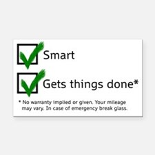 smart gets things done Rectangle Car Magnet