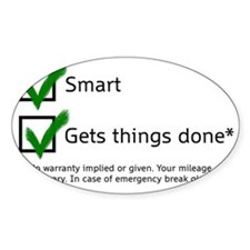 smart gets things done Decal