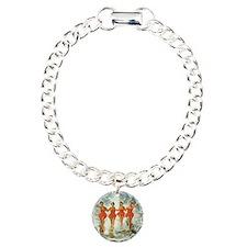 4 waterskiers Charm Bracelet, One Charm