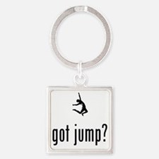 Long-Jump-02-A Square Keychain