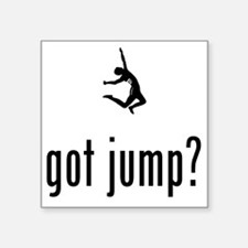 "Long-Jump-02-A Square Sticker 3"" x 3"""