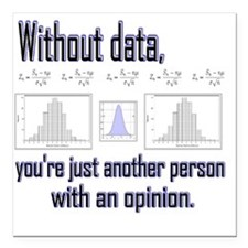 "without data Square Car Magnet 3"" x 3"""