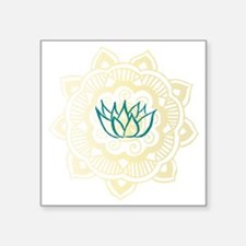 "lotus mandala Square Sticker 3"" x 3"""