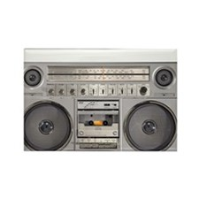 Boom Box Rectangle Magnet