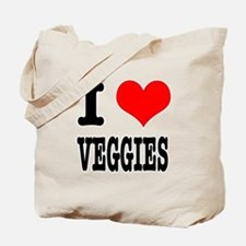 I Heart (Love) Veggies Tote Bag