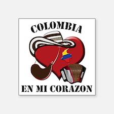 """Colombia_Corazon Square Sticker 3"""" x 3"""""""