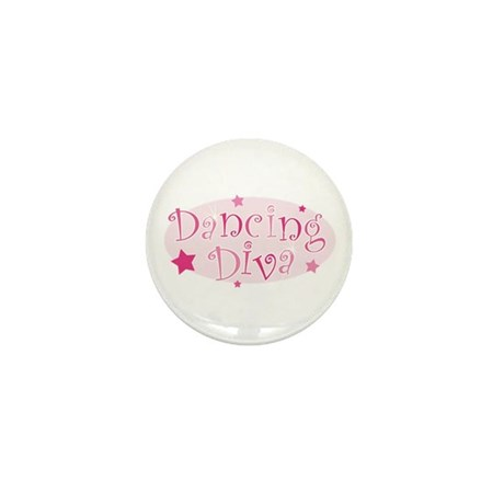Dancing Diva [pink] Mini Button