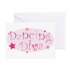 Dancing Diva [pink] Greeting Cards (Pk of 10)