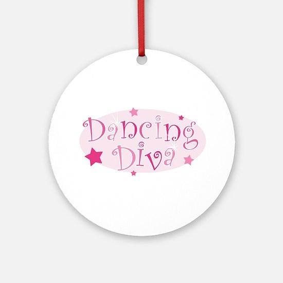Dancing Diva [pink] Ornament (Round)