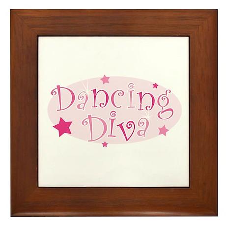 Dancing Diva [pink] Framed Tile