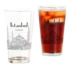 Istanbul_10x10_BlueMosque_Black Drinking Glass