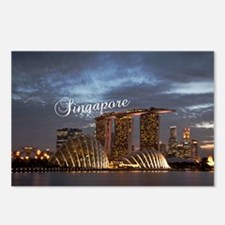Singapore_5x3rect_sticker Postcards (Package of 8)