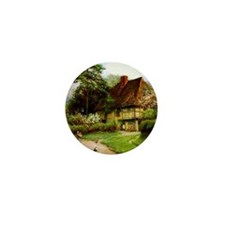 Old English Country Cottage Mini Button