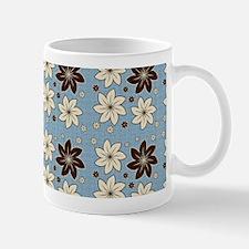 Floral design on blue Mug